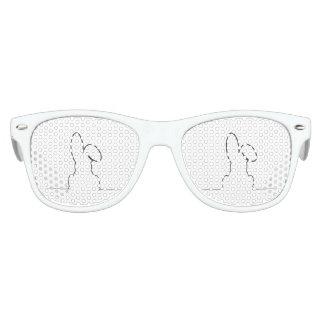 Kontur eines Hasen Sonnenbrille