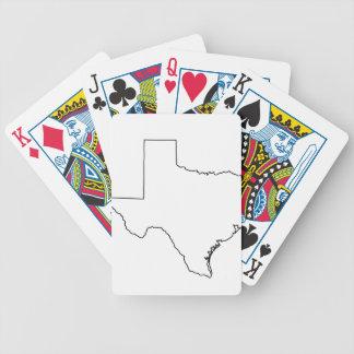 Kontur von Texas-Sammlung Bicycle Spielkarten