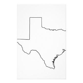 Kontur von Texas-Sammlung Briefpapier