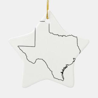Kontur von Texas-Sammlung Keramik Ornament