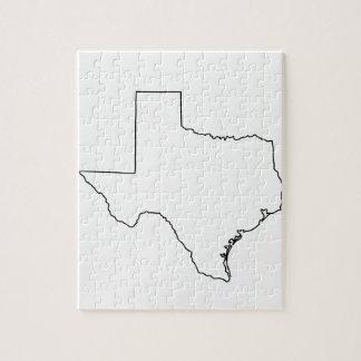 Kontur von Texas-Sammlung Puzzle