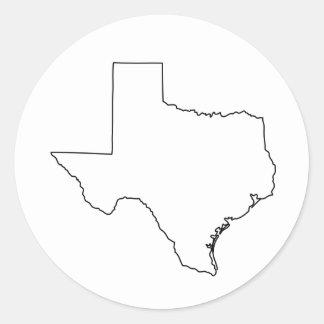 Kontur von Texas-Sammlung Runder Aufkleber