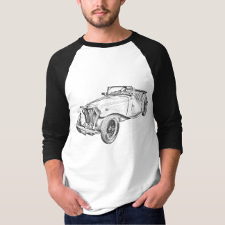 Konvertierbare antikes Auto-Illustration MGs T-Shirt