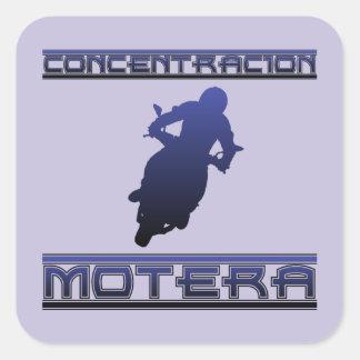 Konzentration Motera Quadratischer Aufkleber