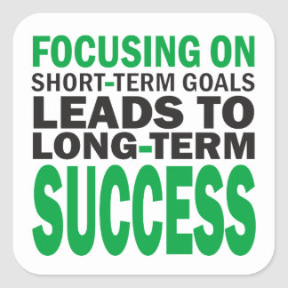 Konzentrieren auf Erfolg Quadratsticker