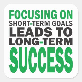 Konzentrieren auf Erfolg Quadratischer Aufkleber