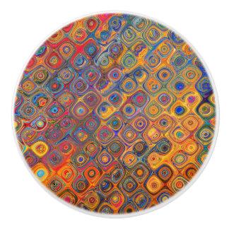 Konzentrische Kreise Keramikknauf