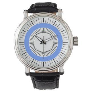 Konzentrische Strahlen - Baby-Blau Armbanduhr