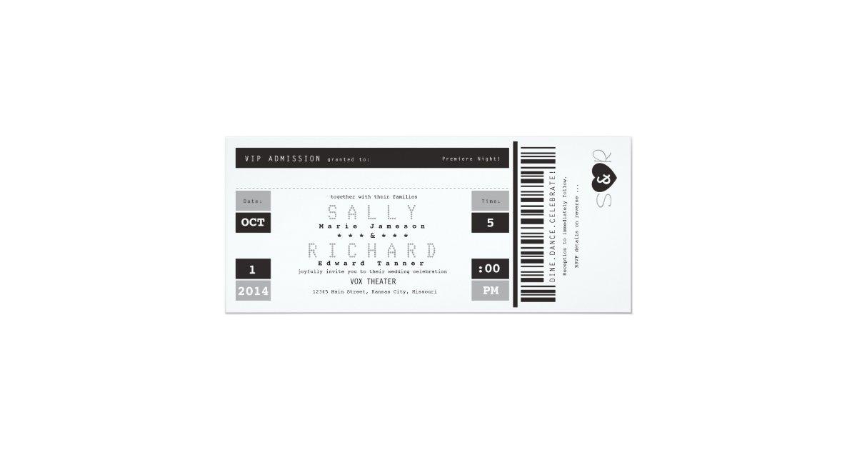 Konzert-Karten-Einladung Schwarz-weiß und grau Karte | Zazzle