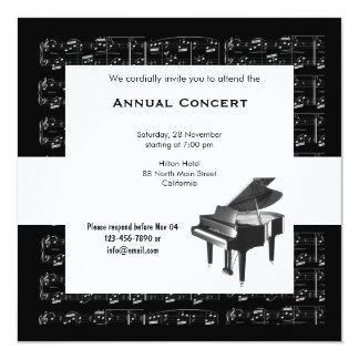 Konzert-Musik Quadratische 13,3 Cm Einladungskarte