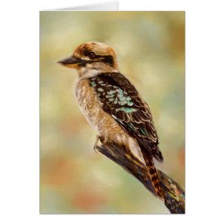 Kookaburra - australische Vogel-Kunst Karte