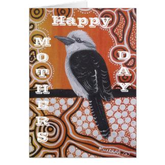 Kookaburra, das Karte der Mutter Tagesträumt