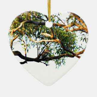 KOOKABURRA LÄNDLICHES QUEENSLAND AUSTRALIEN KERAMIK Herz-Ornament