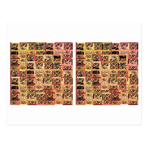 KOOLshades Deko: Checkered Glitter-Goldschein Postkarte