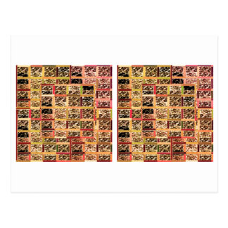 KOOLshades Deko: Checkered Glitter-Goldschein Postkarten