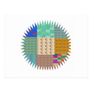 KOOLshades: Gewebe-Patchwork SCHEIN Postkarten