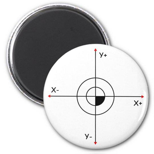 Koordinatenkreuz Runder Magnet 5,1 Cm