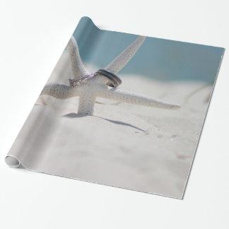 Koordinierte Strand-Hochzeits-Thema-Reihe Geschenkpapier
