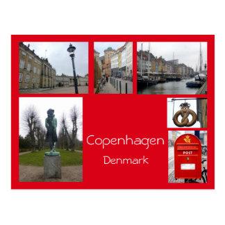 Kopenhagen-Collage 3 Postkarte