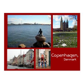 Kopenhagen-Collage Postkarte