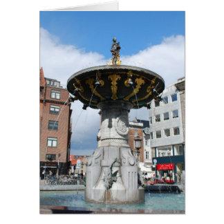 Kopenhagen Dänemark, Caritas wohler Brunnen Grußkarte
