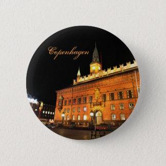 Kopenhagen, Dänemark nachts Runder Button 5,1 Cm