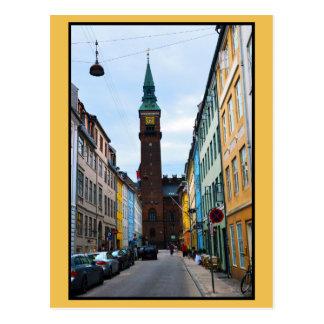 Kopenhagen, Dänemark, Rathaus Postkarte