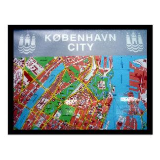 Kopenhagen-Karte Postkarte