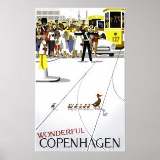 Kopenhagen-Reiseplakat Poster