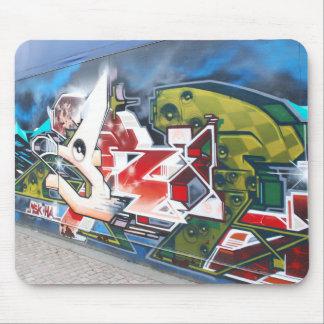 Kopenhagen-Straßen-Graffiti-Kunst Mauspads