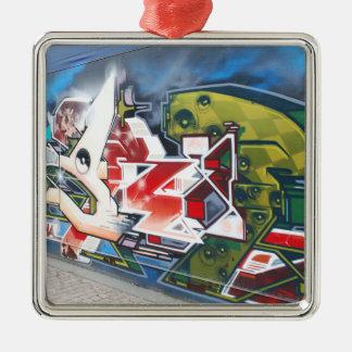 Kopenhagen-Straßen-Graffiti-Kunst Silbernes Ornament
