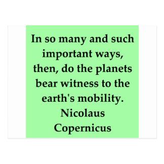 Kopernikus-Zitat Postkarte