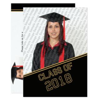Kopf 2018 der Klassen-Abschluss-Einladung Karte