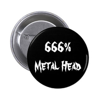 Kopf 666%Metal Runder Button 5,7 Cm