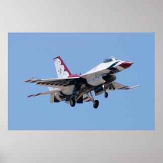 Kopf auf U.S.A.F. Thunderbird 7 Poster