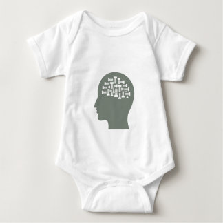 Kopf Baby Strampler