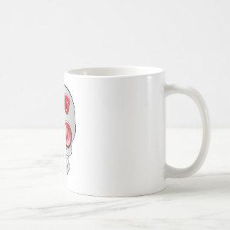 Kopf des Brillentoten Kaffeetasse