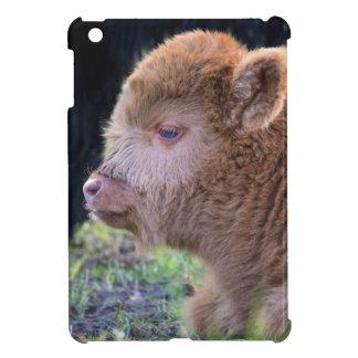 Kopf des neugeborenen schottischen Hochländerkalbs iPad Mini Hülle
