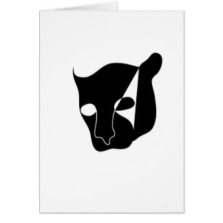 Kopf des schwarzen Panthers Karte