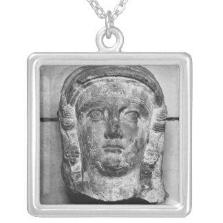 Kopf einer Dame vom Palmyra, mid-2nd Jahrhundert Versilberte Kette
