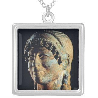 Kopf einer Etruscan Frau Versilberte Kette