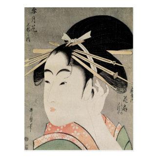 Kopf einer Frau Postkarte