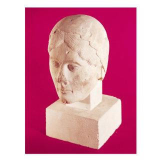 Kopf einer Frau, von Cambrai-Kathedrale Postkarte