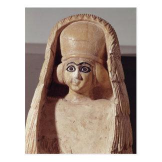 Kopf einer Statue von Ishtar, tragendes a Postkarte
