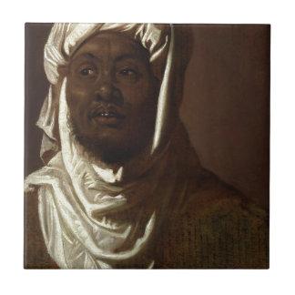 Kopf eines afrikanischen Mannes Kleine Quadratische Fliese