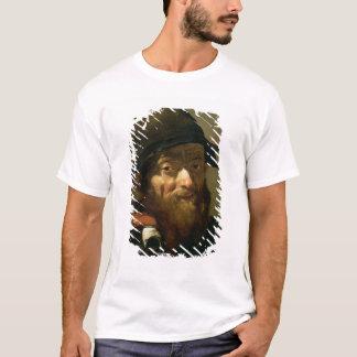 Kopf eines alten Mannes, Detail des Porträts eines T-Shirt