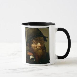 Kopf eines alten Mannes, Detail des Porträts eines Tasse