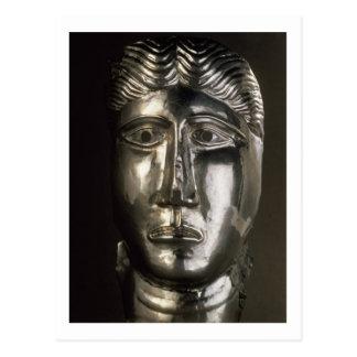 Kopf eines Mannes, Gallo-Römisch, 2.-. Jahrhundert Postkarte