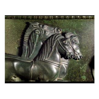 Kopf eines Pferds von einem Quadriga Postkarte