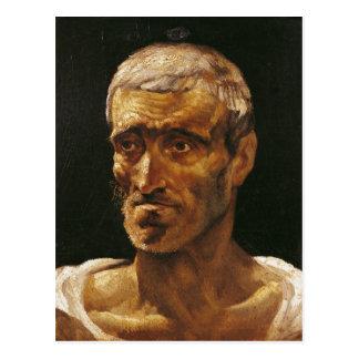 Kopf eines ruinierten Mannes Postkarte